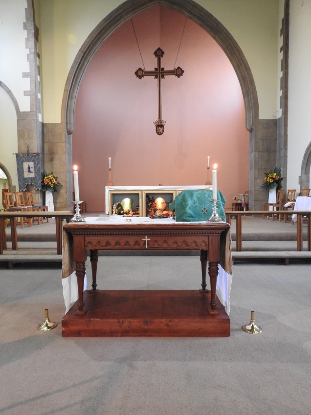 the nave altar we use for Informal Eucharists