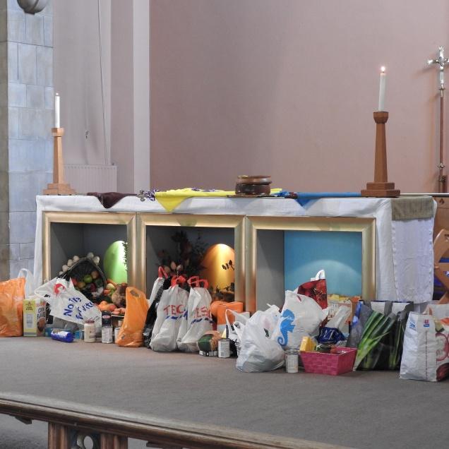 Harvest gifts for Broxbourne Food Bank