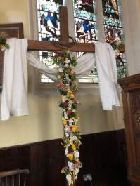 easter flowers cross